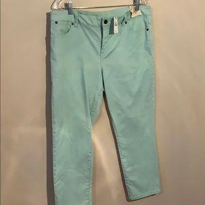 Talbots signature slim crop pants
